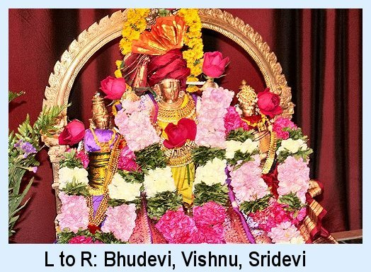 Bhudevi, Vishnu, Sridevi